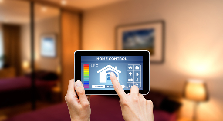 Smart home with satellite internet