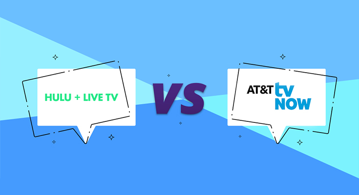 compare at&t tv and hulu