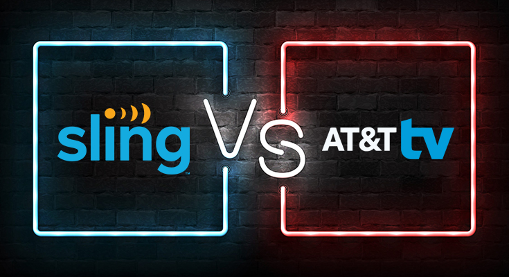at&t directv now vs sling tv